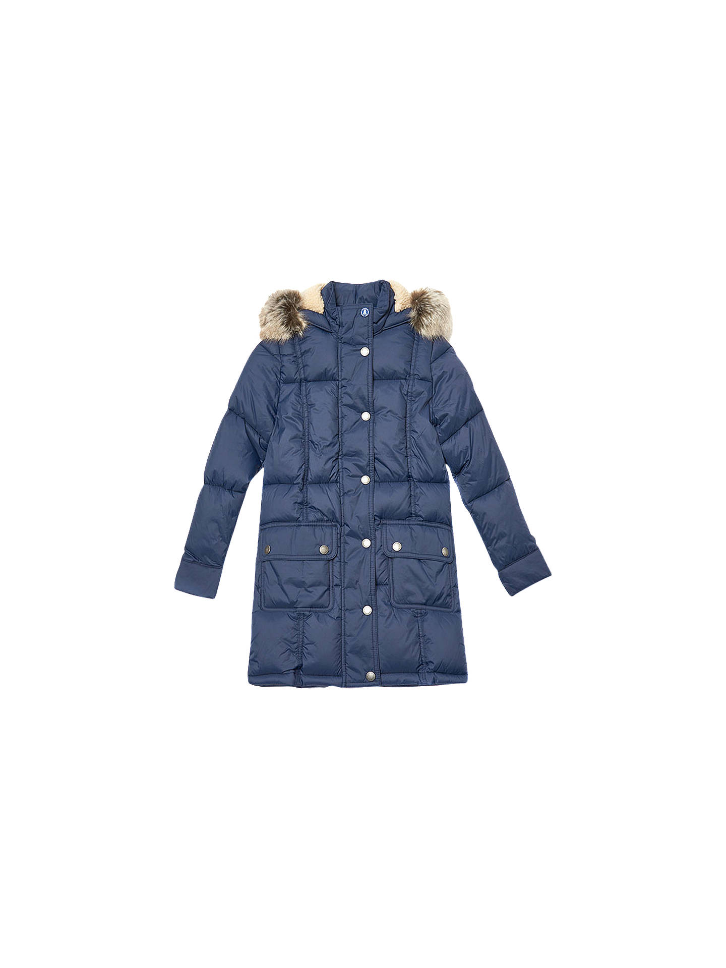 9a57fbb4 Buy Barbour Girls' Icefield Quilted Jacket, Navy, XXS Online at johnlewis.  ...