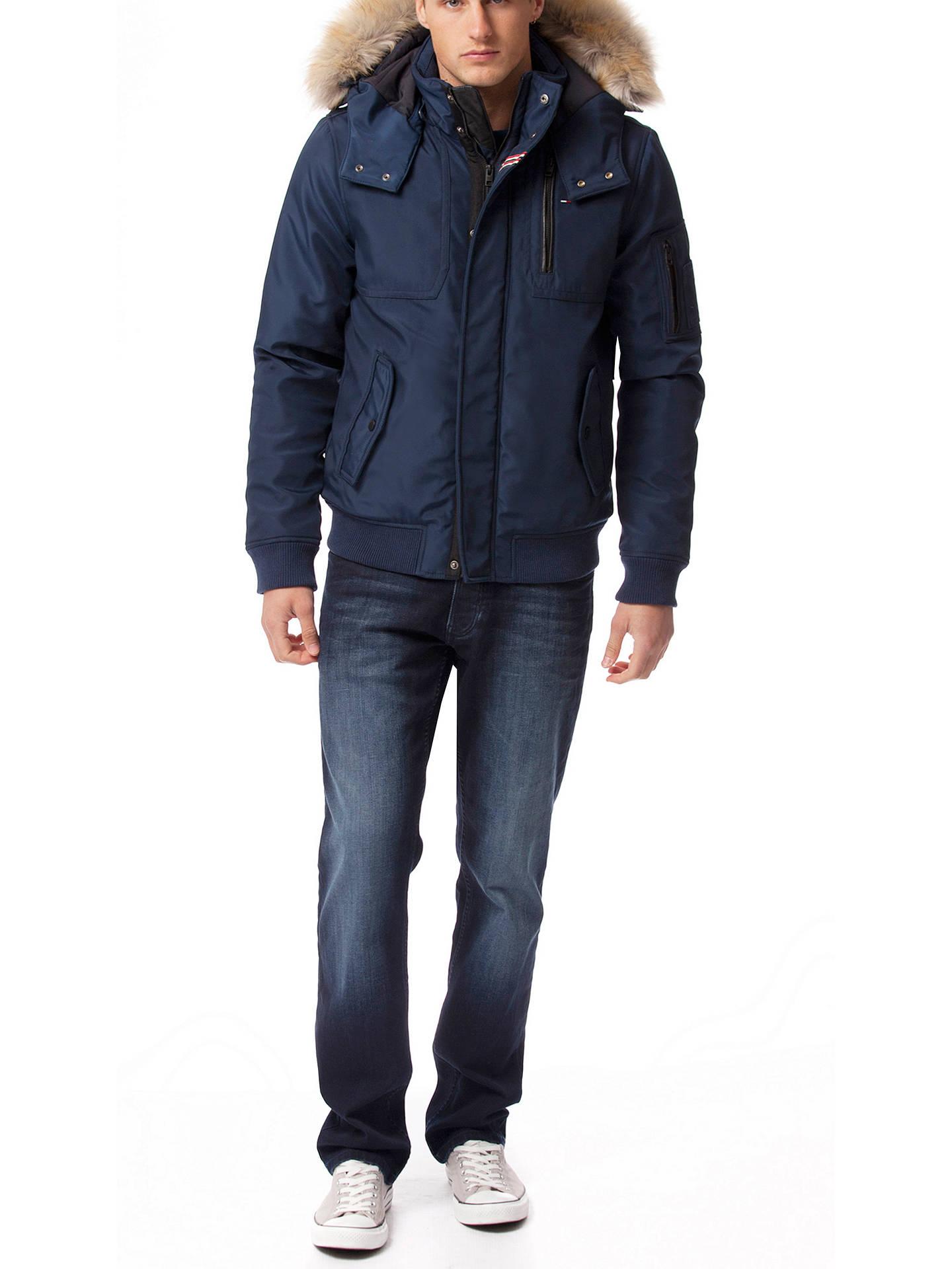 570bea2fd Tommy Hilfiger Cotton-Blend Hooded Bomber Jacket