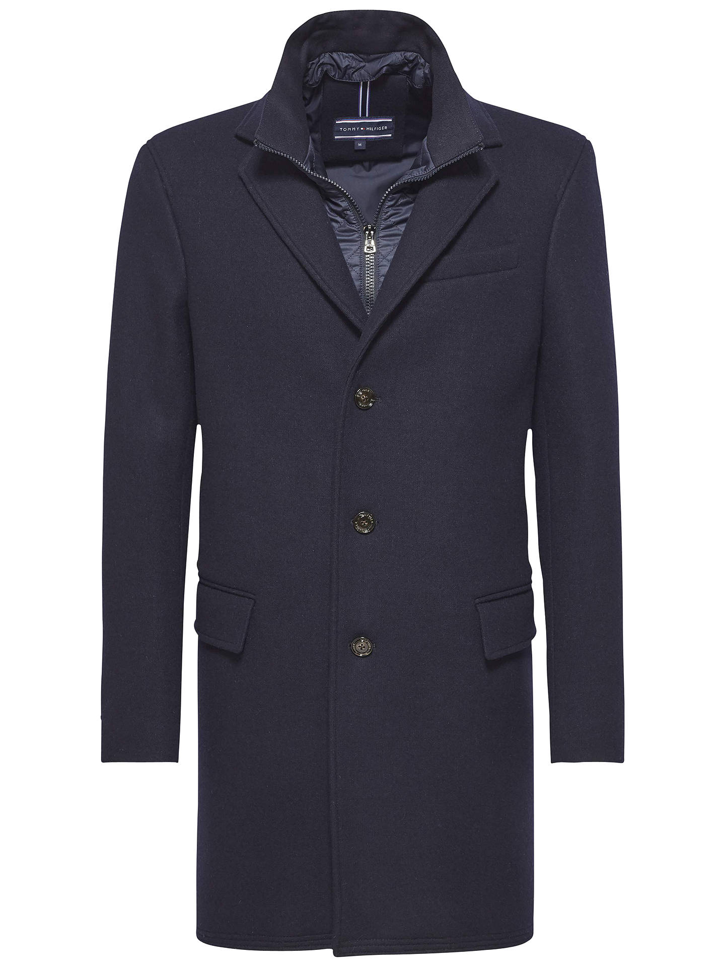 BuyTommy Hilfiger New Chase Jersey Coat, Midnight, M Online at  johnlewis.com ... b78672f10b