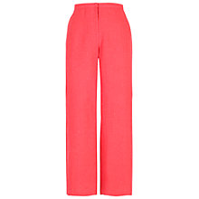 Buy Chesca Linen Pinstripe Trousers, Coral Online at johnlewis.com