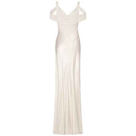Buy Ghost Sana Dress, Ivory Online at johnlewis.com