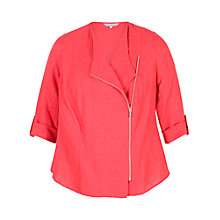 Buy Chesca Tab Trim Pinstripe Jacket, Coral Online at johnlewis.com