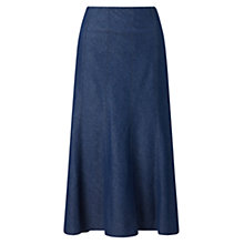 Buy East Denim Panel Skirt, Indigo Online at johnlewis.com