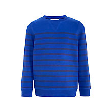 Buy John Lewis Boys' Stripe Sweatshirt, Blue Online at johnlewis.com
