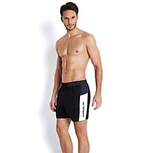 Buy Speedo Solid Leisure Men's Watershorts, Black/White Online at johnlewis.com