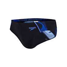 Buy Speedo Print Briefs, Black/Blue Online at johnlewis.com