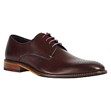 Buy Ted Baker Marar Derby Shoes, Dark Red Online at johnlewis.com