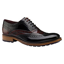 Buy Ted Baker Krelly2 Brogues, Black/Red Online at johnlewis.com