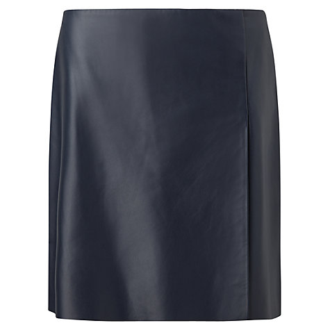 Buy Jigsaw Leather Wrap Mini Skirt | John Lewis