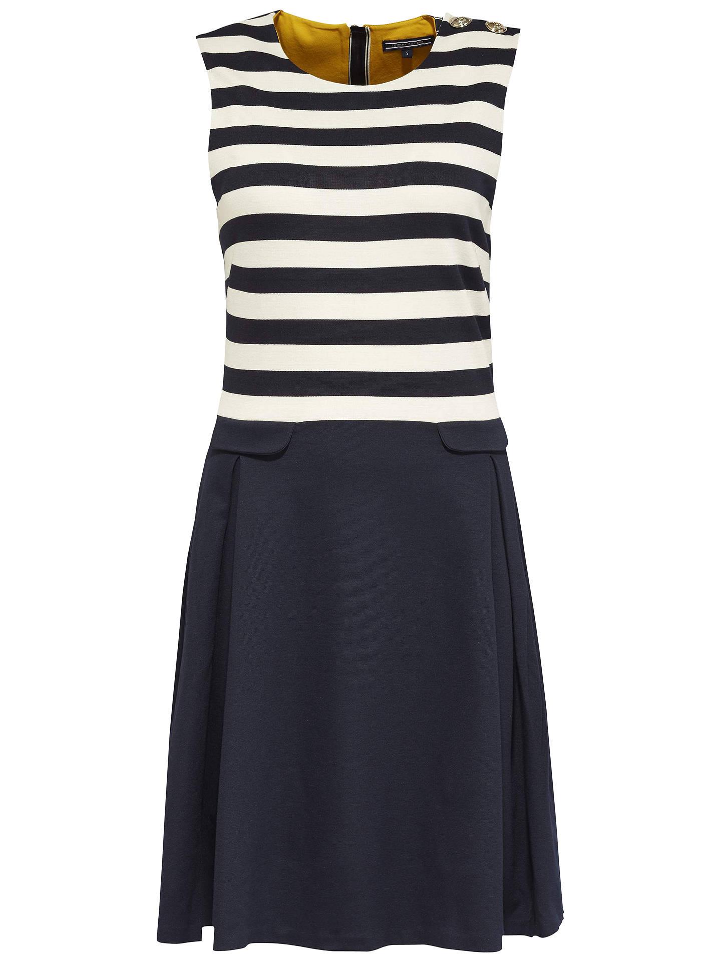 02f17d6b18 Buy Tommy Hilfiger Fekla Stripe Dress, Navy Blazer/Snow White, S Online at  ...