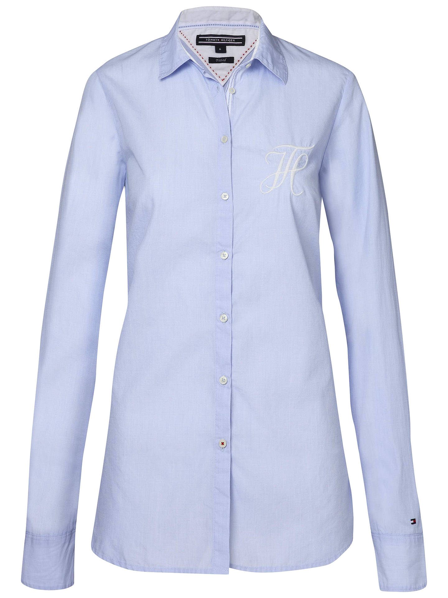 united kingdom incredible prices half price Tommy Hilfiger Kees Signature Fitted Shirt, New Shirt Blue ...