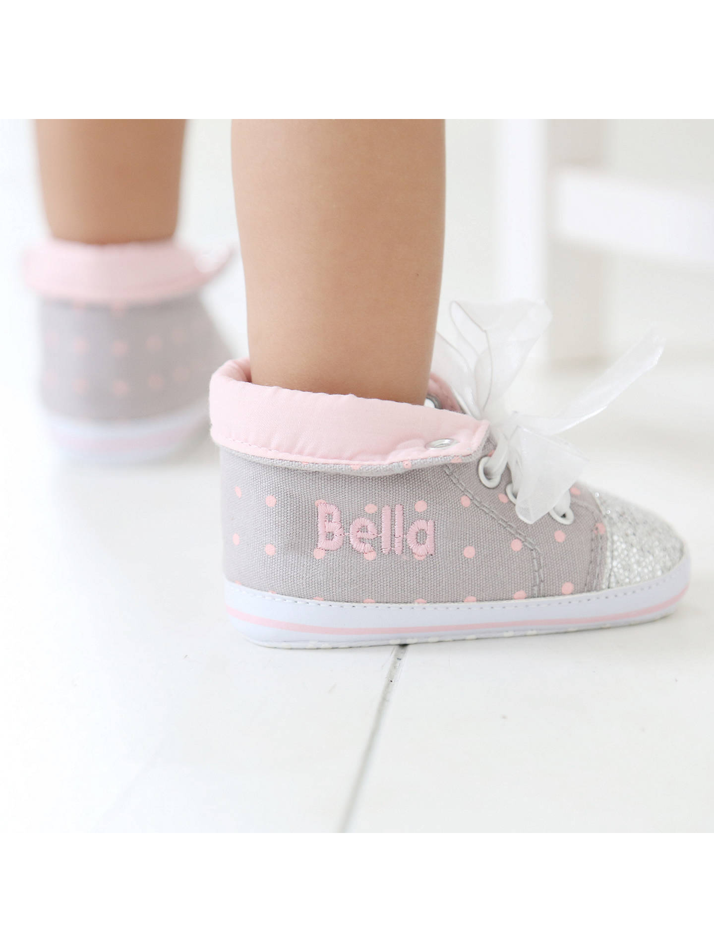 BuyMy 1st Years Baby Personalised Glitter Hi-top Trainers, Multi, 0-6 months Online at johnlewis.com