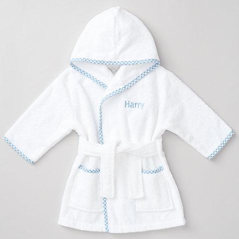 Buy My 1st Years Baby Personalised Prince Gingham Robe, Multi ...