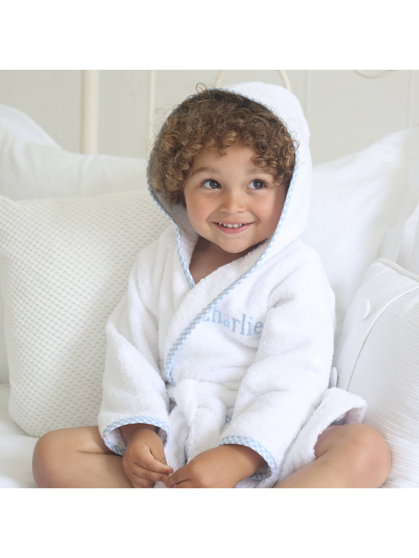 BuyMy 1st Years Baby Personalised Prince Gingham Robe, Multi, 0-6 months Online at johnlewis.com