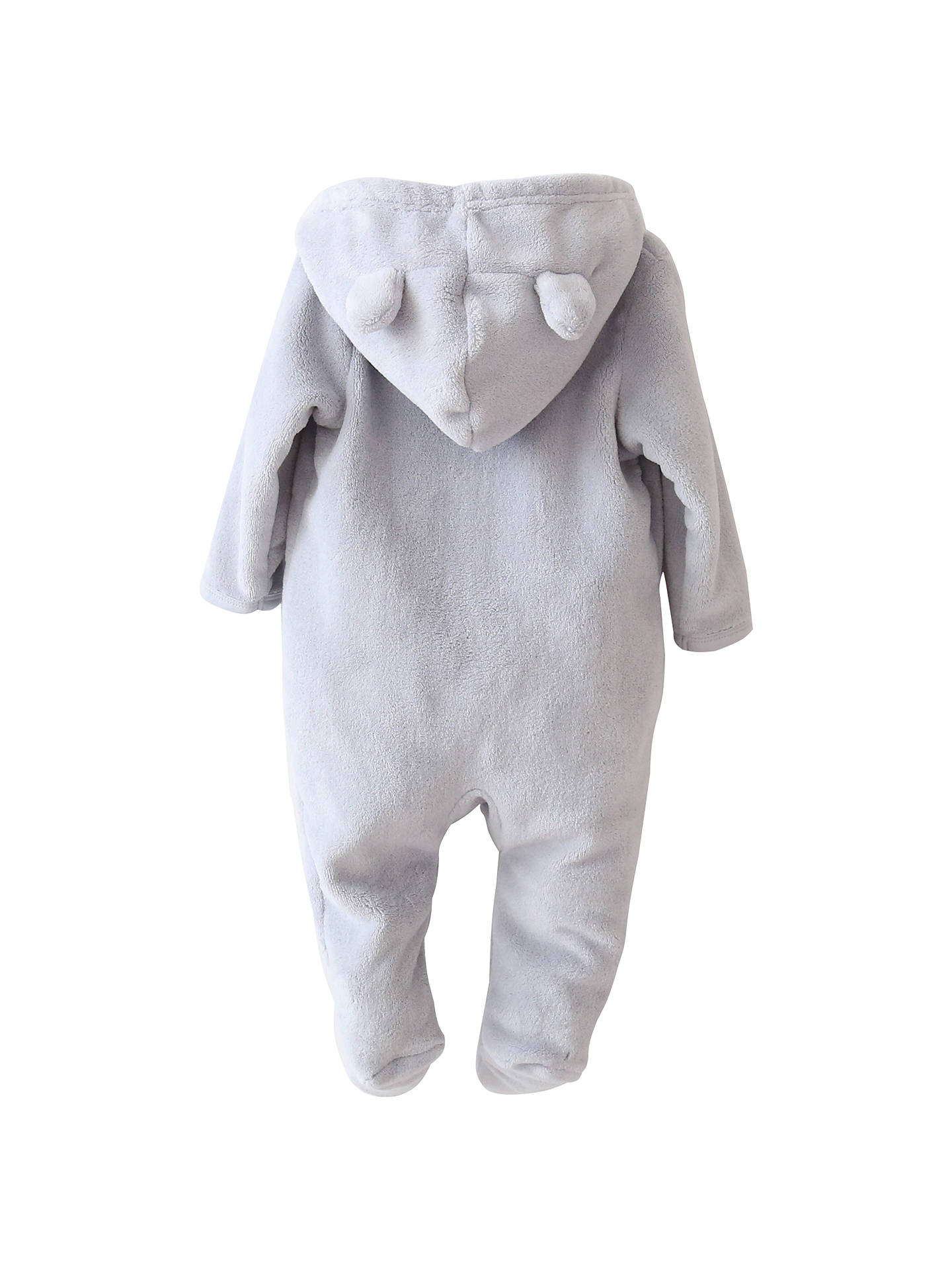 BuyMy 1st Years Baby Personalised Bear Fleece Onesie, Grey, 0-3 months Online at johnlewis.com
