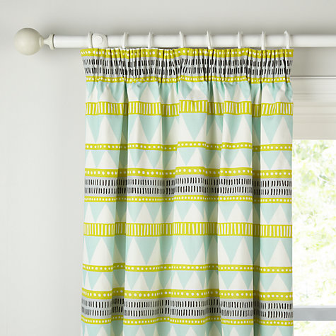 Buy MissPrint Navajo Pencil Pleat Blackout Lined Curtains Online at  johnlewis.com