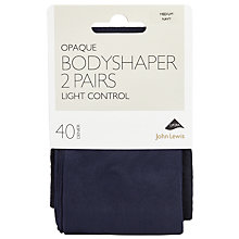 Buy John Lewis 40 Denier Bodyshaper Opaque Tights, Pack of 2 Online at johnlewis.com