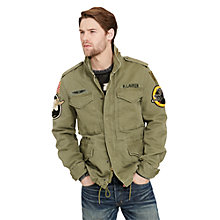 Buy Denim & Supply Ralph Lauren Field Jacket, Marine Corp Olive Online at johnlewis.com