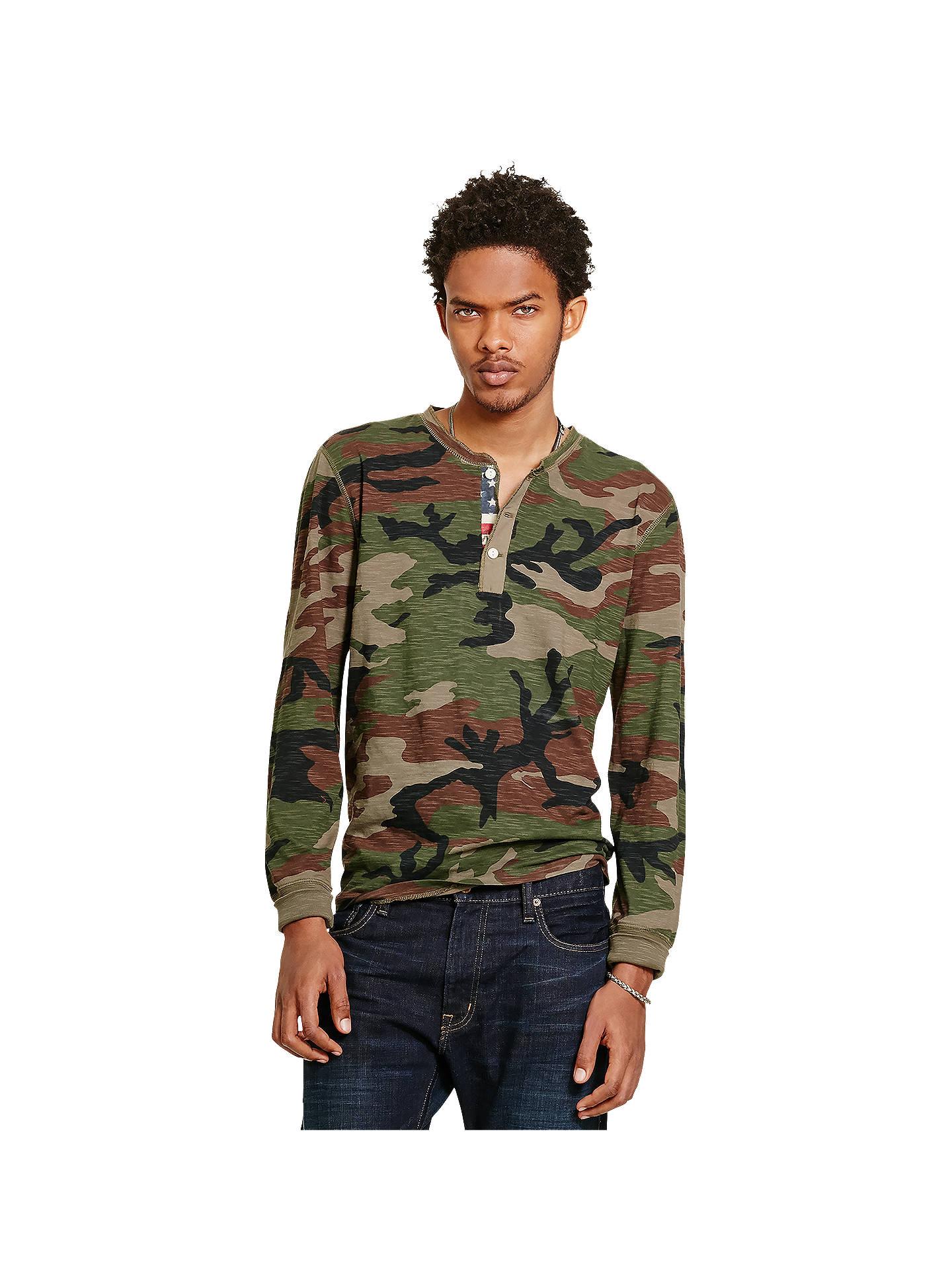 bb7338dffc7d5 Buy Denim & Supply Ralph Lauren Henley Long Sleeve T-Shirt, Sabrage Multi,  ...