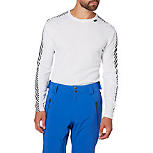 Buy Helly Hansen Dry Stripe Base Layer Crew Top, White Online at johnlewis.com