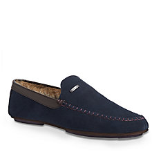 Buy Ted Baker Morris Moccasin Suede Slippers Online at johnlewis.com
