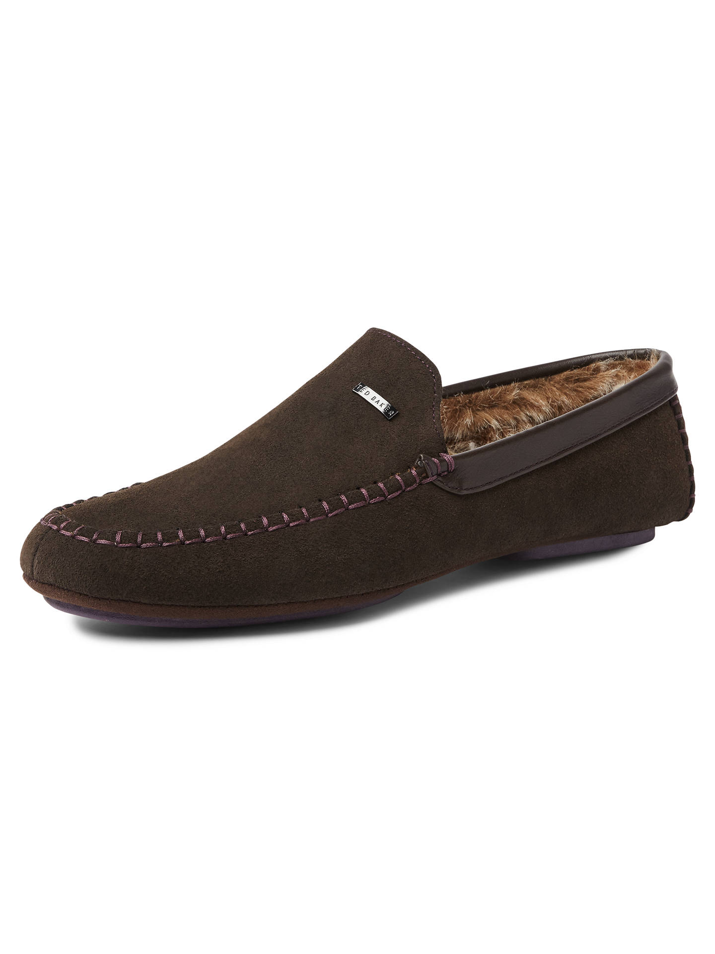 f8ba02a6ba4 Ted Baker Morris Moccasin Suede Slippers at John Lewis   Partners