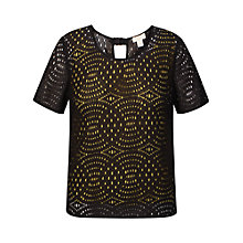 Buy Celuu Emeline Circle Lace Top, Charcoal Online at johnlewis.com