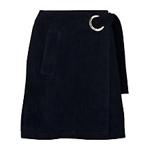 Buy Whistles Eyelet Suede Mini Skirt, Navy Online at johnlewis.com
