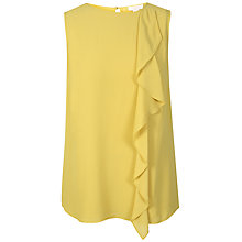 Buy Celuu Maya Drape Front Tunic Top, Yellow Online at johnlewis.com