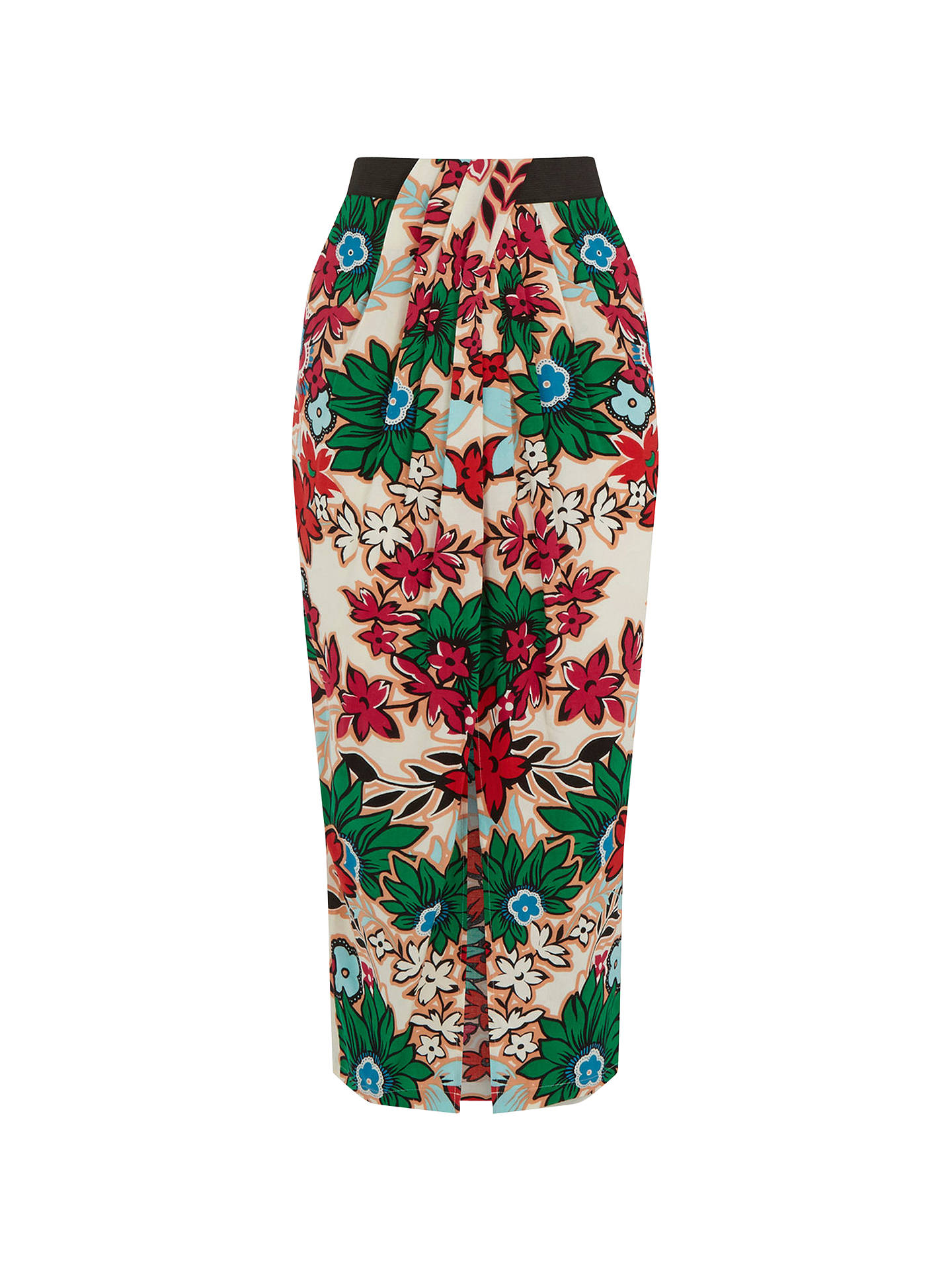 Warehouse NEW Summer Holiday Casual Floral Wrap Midi Skirt in Multi Sizes 8-14