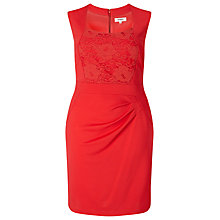 Buy Studio 8 Denver Lace Panel Dress, Red Online at johnlewis.com