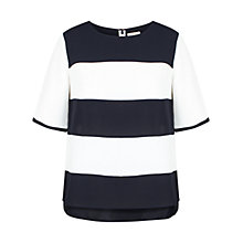 Buy Celuu Martha Stripe Top, Ivory Online at johnlewis.com