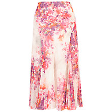 Buy Chesca Sweetpea Print Chiffon Skirt, Cream/Magenta Online at johnlewis.com