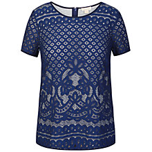 Buy Celuu Carmen Lace Shell Top, Blue Online at johnlewis.com
