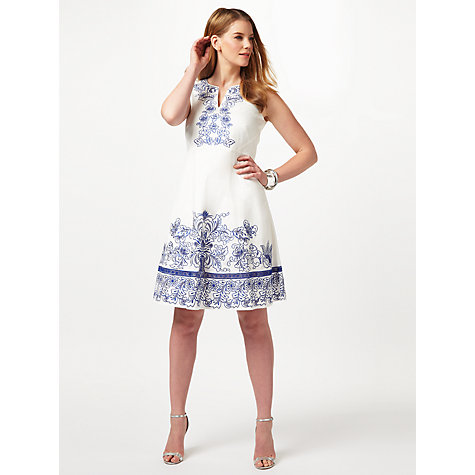 Buy Studio 8 Philippa Dress, White Online at johnlewis.com