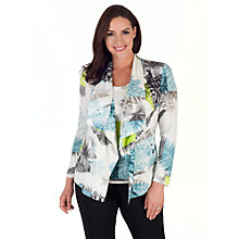 Buy Chesca Fern And Floral Jersey Shrug, Turquoise/Lime Online at johnlewis.com