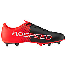 Buy Puma Evospeed 5.5 Firm Ground Football Boots, Black/Red Online at johnlewis.com