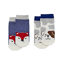 Buy Baby Joule Friendly Canine Socks, Pack of 2, Assorted Online at johnlewis.com