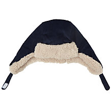 Buy John Lewis Baby Corduroy Trapper Hat, Navy Online at johnlewis.com