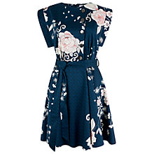 Buy Closet Blossom Button Down Kimono Tie Dress, Multi Online at johnlewis.com