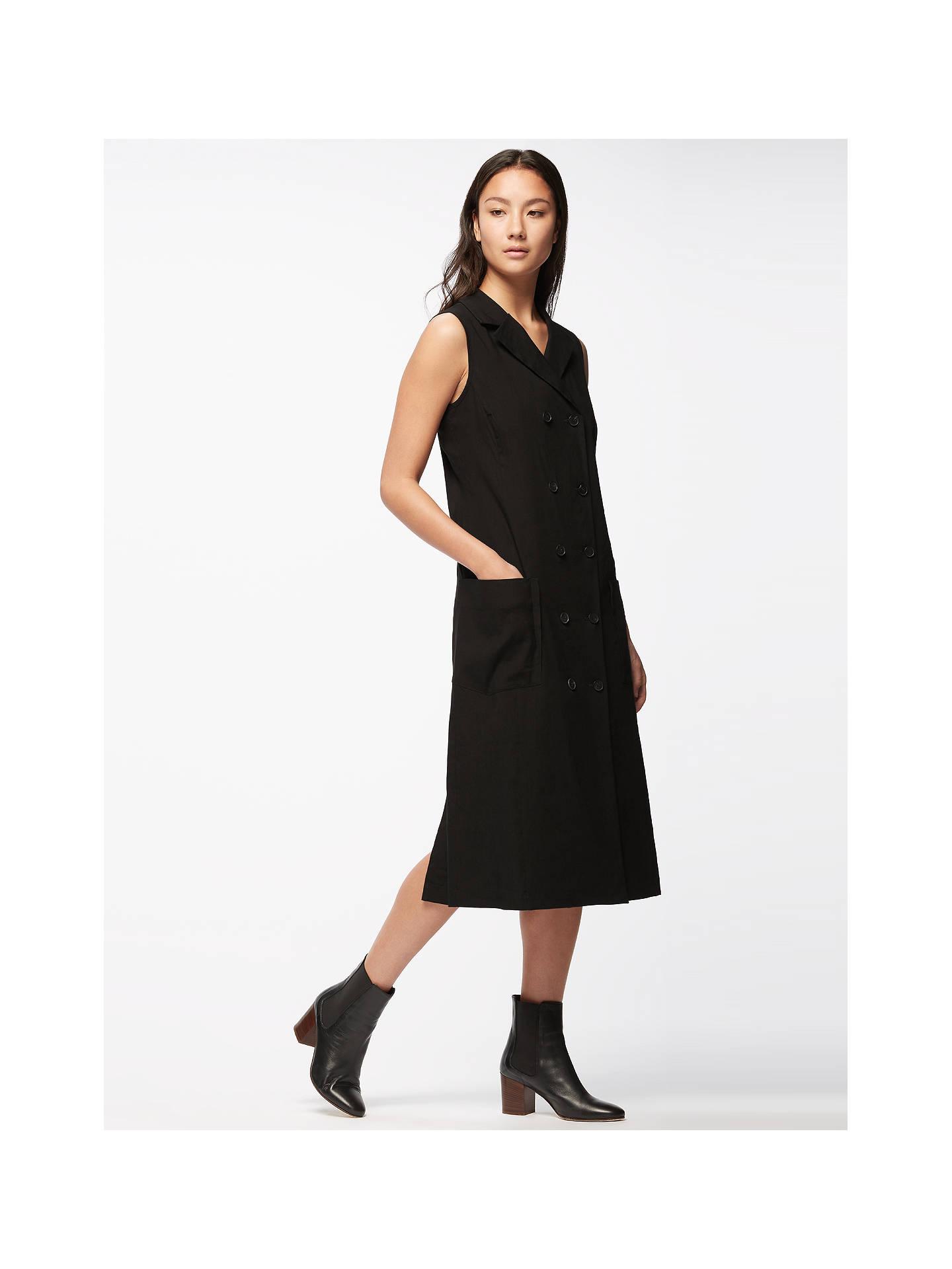 Jigsaw Artisan Tailoring Linen Dress Womens New Black