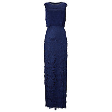 Buy Phase Eight Collection 8 Julianna Fringe Full Length Dress, Cobalt Online at johnlewis.com