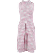 Buy Closet Floral Jacquard High Collar Dress, Lilac Online at johnlewis.com