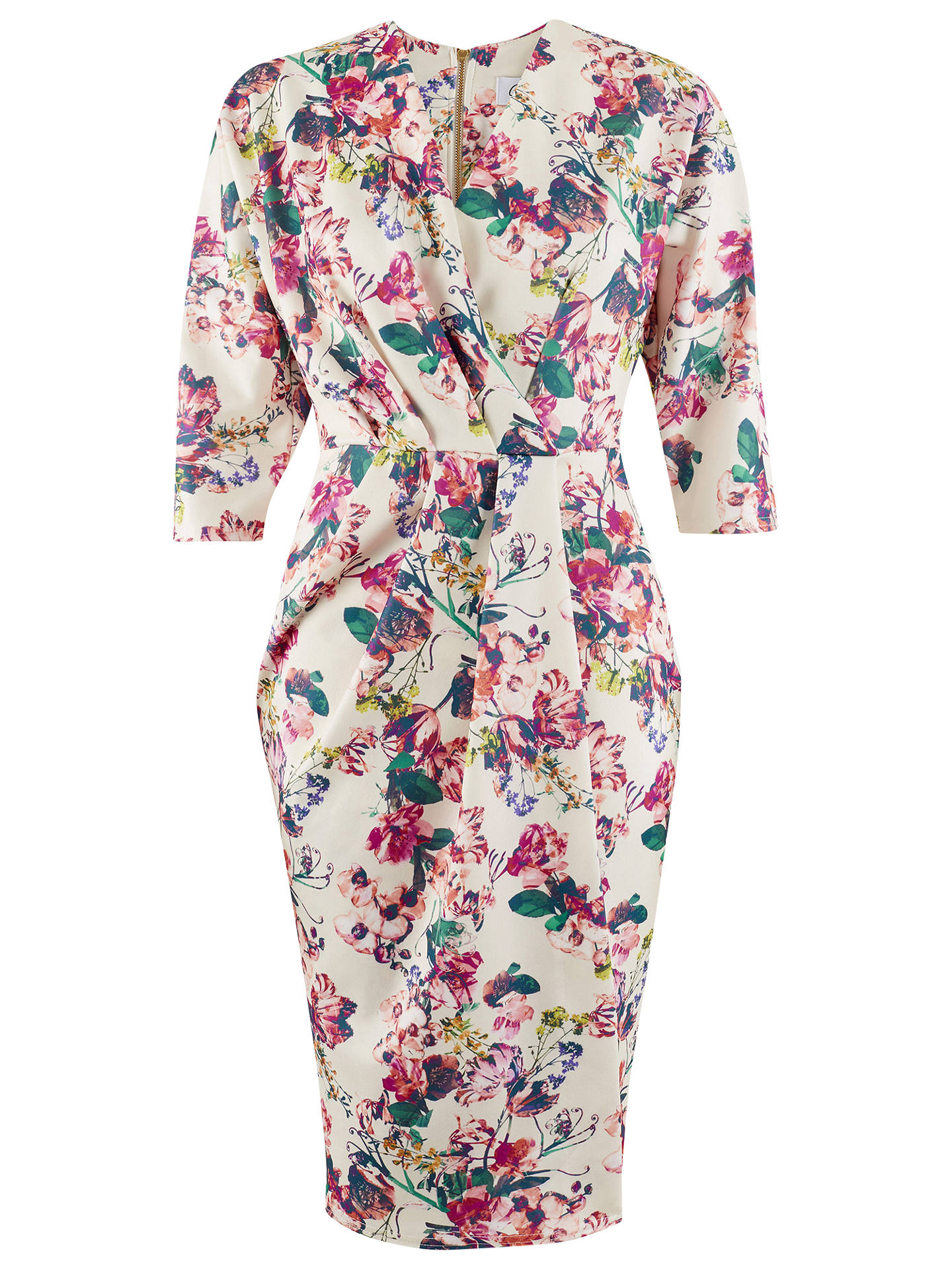 f5a43393b Buy Closet Floral Print Scuba Wrap Dress, Multi, 8 Online at johnlewis.com  ...