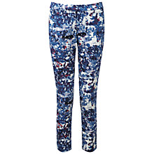 Buy Pure Collection Banbury Capri Trousers, Blue Abstract Floral Online at johnlewis.com