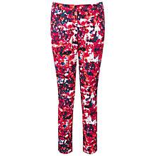 Buy Pure Collection Banbury Capri Trousers, Pink Abstract Print Online at johnlewis.com