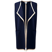Buy Pure Collection Wilson Sleeveless Waistcoat, Navy/Stone Online at johnlewis.com