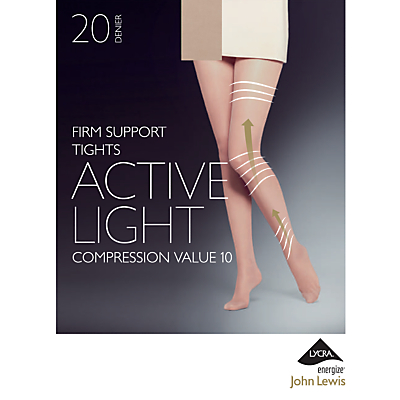 John Lewis 20 Denier Firm Support Active Light Sheer Tights