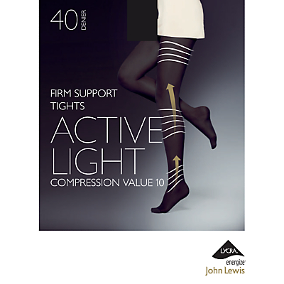 John Lewis 40 Denier Firm Support Active Light Opaque Tights
