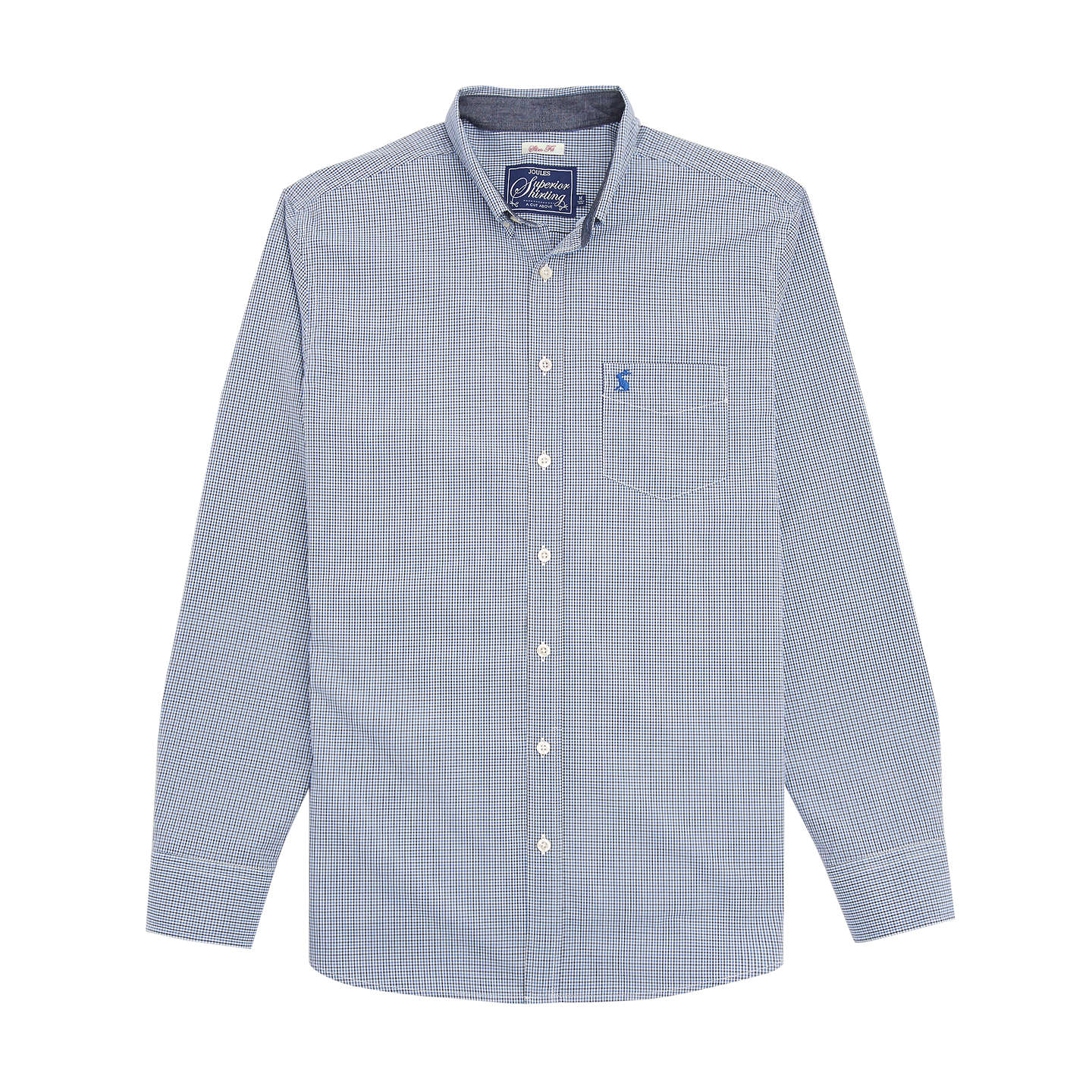 BuyJoules Hensley Gingham Slim Fit Shirt, Navy, XL Online at johnlewis.com